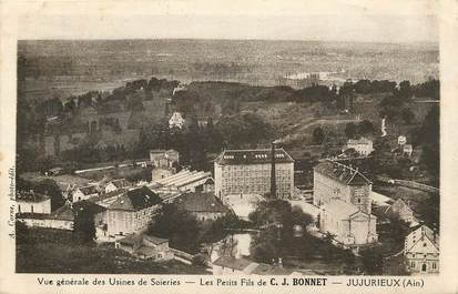"""CPA """"Jujurieux, Usines de Soieries, C.J.BONNET"""""""