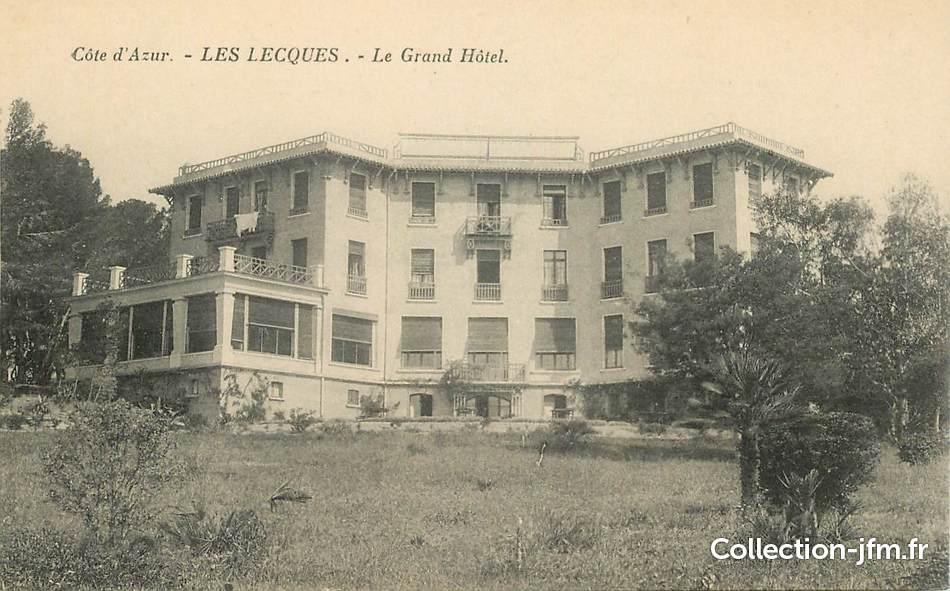 cpa france 83 les lecques le grand hotel 83 var