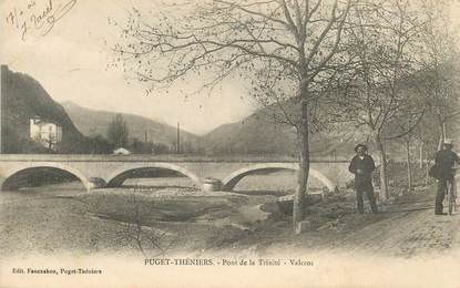 """CPA FRANCE 06 """"Puget Théniers, le pont de la Trinité, Valcros"""""""