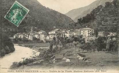 """/ CPA FRANCE 06 """"Saint Sauveur, vallée de la Tinée, station estivale"""""""