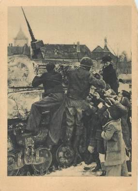 CPSM 2EME GUERRE  / les 1ers blindés à Colmar, 1945