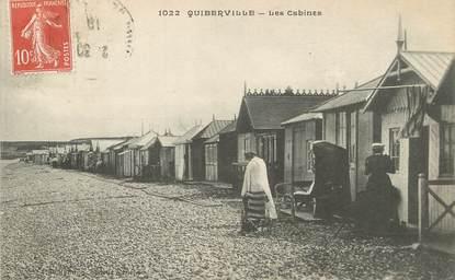 "/ CPA FRANCE 76 ""Quiberville, les cabines"""