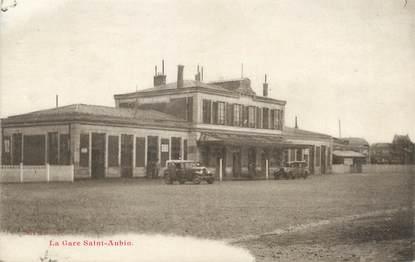 "/ CPA FRANCE 76 ""Elbeuf, la gare Saint Aubin"""