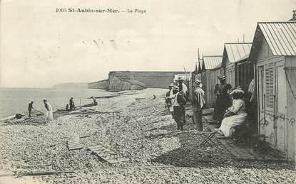 """/ CPA FRANCE 76 """"Saint Aubin sur Mer, la Plage"""""""