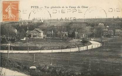"""/ CPA FRANCE 76 """"Puys, vue générale et le camp de César"""""""