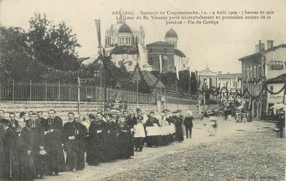 """/ CPA FRANCE 01 """"Ars, souvenir du cinquantenaire 2 Août 1909"""""""