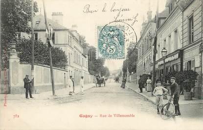 "/ CPA FRANCE 93 ""Gagny, rue de Villemonble"""