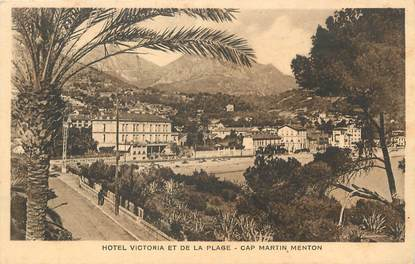 """/ CPA FRANCE 06 """"Roquebrune Cap Martin, hôtel Victoria et de la plage"""""""