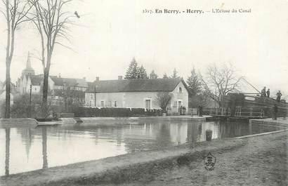 """/ CPA FRANCE 18 """"Herry, l'écluse du canal"""""""