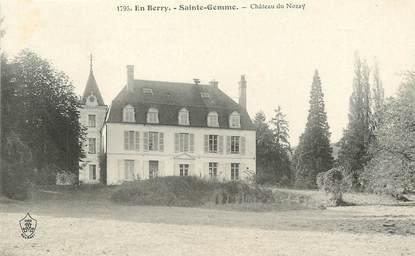 """/ CPA FRANCE 18 """"Sainte Gemme, château de Nozay"""""""