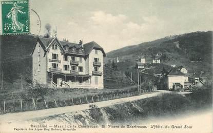 """CPA FRANCE 38 """"Saint Pierre de Chartreuse, Hotel du Grand Som"""""""