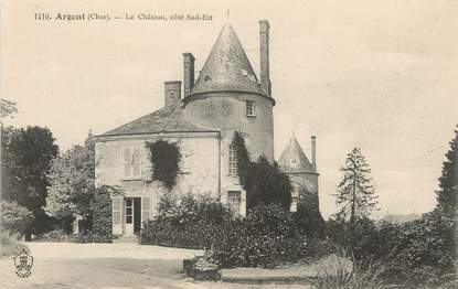 """/ CPA FRANCE 18 """"Argent, le château """""""