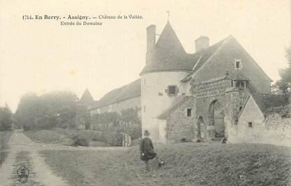 "/ CPA FRANCE 18 ""Assigny, château de la vallée"""
