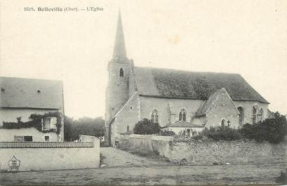 "/ CPA FRANCE 18 ""Belleville, l'église"""