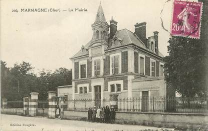 "/ CPA FRANCE 18 "" Marmagne, la mairie"""