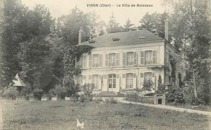 "/ CPA FRANCE 18 ""Vinon, la villa de Boisseau"""