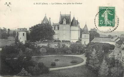 """/ CPA FRANCE 18 """"Blet, le château"""""""