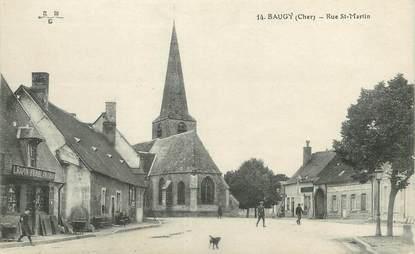 "/ CPA FRANCE 18 ""Baugy, rue Saint Martin"""
