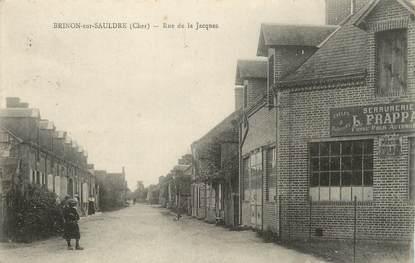 """/ CPA FRANCE 18 """"Brinon sur Sauldre, rue de la Jacques"""""""