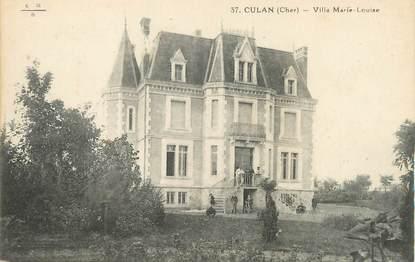 """/ CPA FRANCE 18 """"Culan, villa Marie Louise"""""""