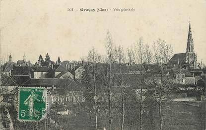 """/ CPA FRANCE 18 """"Graçay, vue générale"""""""