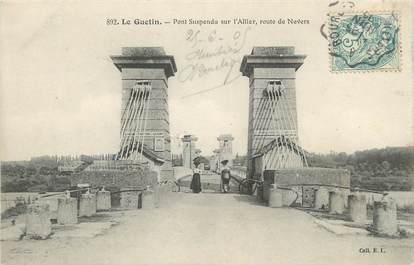 """/ CPA FRANCE 18 """"Le Guetin, pont suspendu"""""""