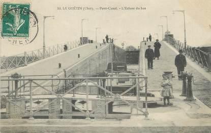 "/ CPA FRANCE 18 ""Le Guetin, pont canal"""