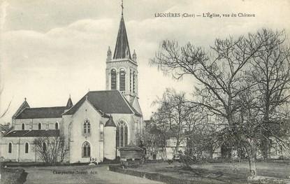 """/ CPA FRANCE 18 """"Lignières, l'église"""""""
