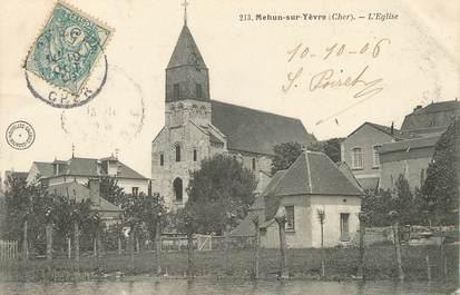 """/ CPA FRANCE 18 """"Mehun sur Yèvre, l'église"""""""