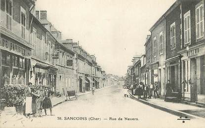 "/ CPA FRANCE 18 ""Sancoins, rue de Nevers"""