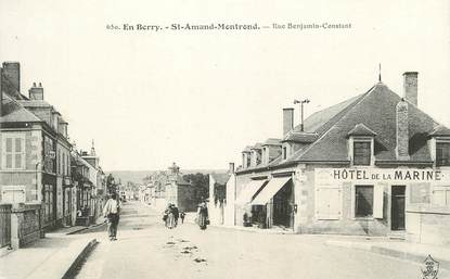 "/ CPA FRANCE 18 ""Saint Amand Montrond, rue Benjamin Constant """