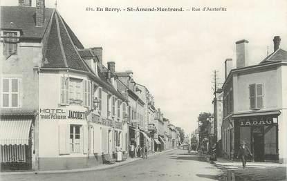 """/ CPA FRANCE 18 """"Saint Amand Montrond, rue d'Austerlitz"""""""