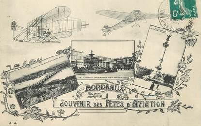 """/ CPA FRANCE 33 """"Bordeaux, souvenir des fêtes de l'aviation"""""""