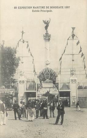 """/ CPA FRANCE 33 """"Exposition Maritime de Bordeaux, entrée principale"""""""