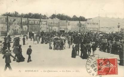 """/ CPA FRANCE 33 """"Bordeaux,les Quinconces, la foire"""""""