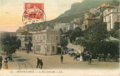 """/ CPA MONACO """"Monté Carlo, la rue Grimaldi"""""""