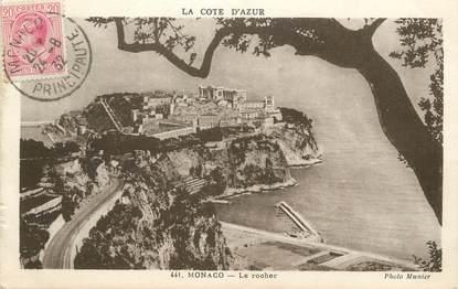 """/ CPA MONACO """"Monaco, le rocher"""""""