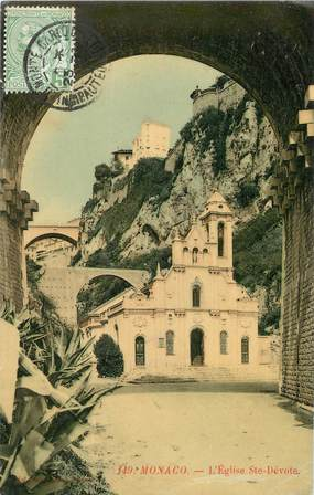 "/ CPA MONACO ""Monaco, l'église Sainte Dévote"""