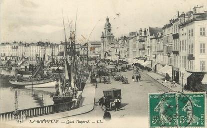 """/ CPA FRANCE 17 """"La Rochelle, quai Duperré"""""""