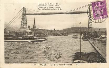 """/ CPA FRANCE 76 """"Rouen, le pont transbordeur """""""