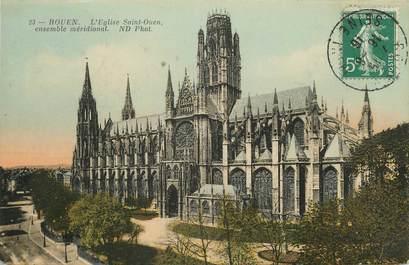 """/ CPA FRANCE 76 """"Rouen, l'église Saint Ouen ensemble méridional"""""""
