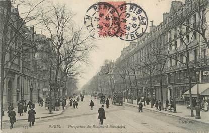 "/ CPA FRANCE 75001 ""Paris, perspective du Boulevard Sebastopol"""