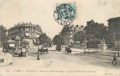 """/ CPA FRANCE 75006 """"Paris, perspective du boulevard Saint Germain"""""""