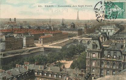 "/ CPA FRANCE 75 ""Paris, panorama des sept ponts"""