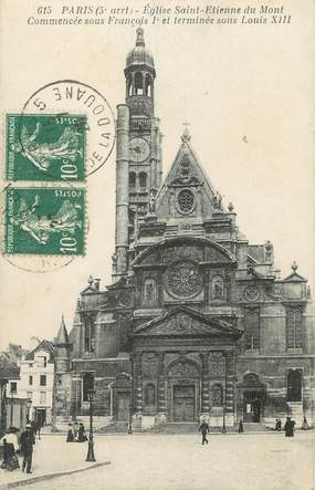 "/ CPA FRANCE 75005 ""Paris, église Saint Etienne du Mont Commencée"""