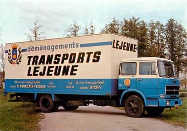 """CPSM FRANCE 03 """"Saint Pourçain sur Sioule, transports LEJEUNE"""" / CAMION"""