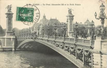 """/ CPA FRANCE 75007 """"Paris, le pont Alexandre III et le petit palais"""""""