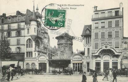 "/ CPA FRANCE 75018 ""Paris Montmartre, le moulin rouge"""