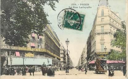 """/ CPA FRANCE 75009 """"Paris, la rue Lafayette"""""""