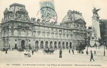 """/ CPA FRANCE 75001 """"Paris, le nouveau Louvre, la place dy Carrousel"""""""